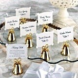 Kate Aspen Gold Kissing Bells Place Card/Photo Holder (Set of 24)