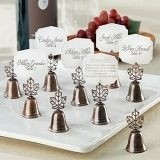 Lustrous Leaf-Topped Kissing Bells/Placecard Holders (Set of 24)