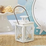 Kate Aspen Luminous Distressed White Mini-Lantern Tea Light Holder