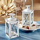Kate Aspen Glossy White Aluminum Luminous Mini-Lantern