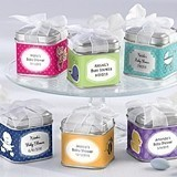 """Unexpected Treasures!"" Favor Tins - Baby Shower (Set of 12)"