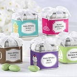 """Unexpected Treasures!"" Favor Tins - Birthday (Set of 12)"