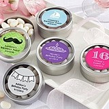Personalized Round Candy Tins (Birthday Designs) (Set of 12)