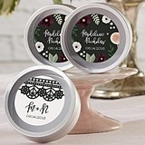 Personalized Romantic Garden Silver Round Candy Tins (Set of 12)