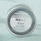 Personalized Round Candy Tins with Silver Foil Designs (Set of 12)