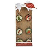 "Kate Aspen ""Good Tidings"" Holiday Wine Charms (Set of 6)"