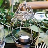 Kate Aspen Vintage-Inspired Birdcage Lantern Tea Light Holder