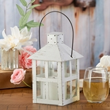Kate Aspen Vintage-Look Distressed White Extra Large Metal Lantern