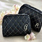 Kate Aspen Couture Quilted Make-Up Bag with Monogram