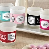 Kate Aspen Personalized Frosted-Glass Votives (Birthday Designs)