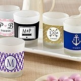 Kate Aspen Personalized Frosted-Glass Votives (Monogram Designs)