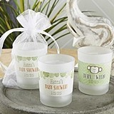 Personalized 'Born to Be Wild' Baby Shower Frosted-Glass Votives