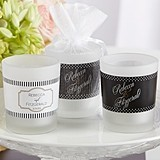Kate Aspen Classic Collection Personalized Frosted-Glass Votives
