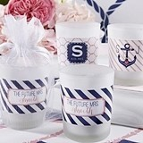 Kate Aspen Nautical Bridal Shower Personalized Frosted-Glass Votives