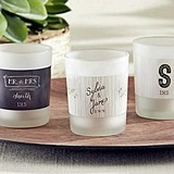 Kate Aspen Personalized Frosted-Glass Votives (Rustic Wedding Designs)