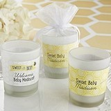 Personalized 'Sweet As Can Be' Bridal Shower Frosted-Glass Votives