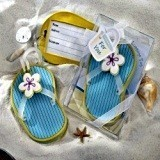 Kate Aspen Flip-Flop Luggage Tag in Beach-Themed Gift Box
