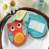 Kate Aspen Cute What a Hoot! Owl-Shaped Luggage Tag