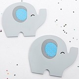 Kate Aspen 'Little Peanut' Blue Elephant-Shaped Coasters (Set of 2)
