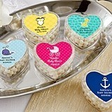 Kate Aspen Heart-Shaped Baby Shower Favor Containers (Set of 12)