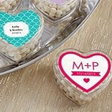 Heart-Shaped Favor Containers (Monogram Designs) (Set of 12)