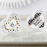 Heart-Shaped Favor Containers (Modern Classic Designs) (Set of 12)
