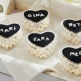 DIY Design Chalk Heart Labels & Heart Favor Holder (Set of 12)