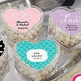 Heart-Shaped Favor Containers - Wedding (Set of 12) (Personalizable)