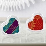 Kate Aspen Heart Favor Container - Indian Jewel Designs (Set of 12)