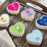 Heart-Shaped Favor Containers (Religious Designs) (Set of 12)