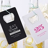 Kate Aspen Personalized Credit Card Bottle Opener (Birthday Designs)
