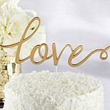 "Kate Aspen Gold Glam Script ""Love"" Cake Topper"