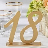 """Good As Gold"" Classic Table Numbers (Numbers 13 through 18)"