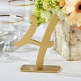 """Good As Gold"" Classic Table Numbers (Numbers 1 through 12)"