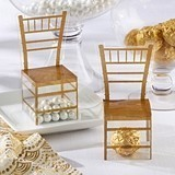 Kate Aspen Chiavari Gold Chair Favor Boxes (Set of 24)