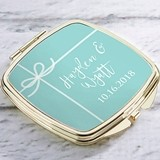 Kate Aspen Personalized Gold-Colored-Metal Compact (Something Blue)