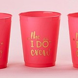 "Kate Aspen ""I Do Crew"" Hot Pink Stadium Cups (Set of 12)"