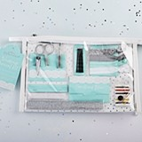 Kate Aspen Something Blue Wedding Survival Kit in Clear Cosmetics Bag