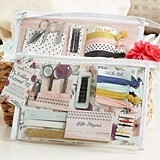 Kate Aspen Floral Wedding Survival Kit in Clear Vinyl Cosmetics Bag