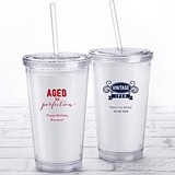 Kate Aspen Personalized Printed Double-Walled Tumbler (Adult Birthday)