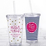 Kate Aspen Acrylic Tumbler with Personalized Bachelorette Party Insert