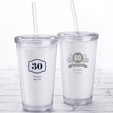 Personalized Printed Double-Walled Tumbler (Milestone Birthday)
