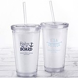 Kate Aspen Personalized Printed Double-Walled Tumbler (Baby Shower)