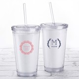 Kate Aspen Personalized Printed Double-Walled Tumbler (Rustic Charm)