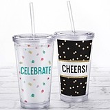 Kate Aspen Acrylic Tumbler with Personalized Party Time Designs Insert