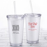 Kate Aspen Personalized Printed Double-Walled Tumbler (Wedding)