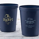 Personalized 16 oz. Stadium Cup with Baby Shower Designs (4 Colors)