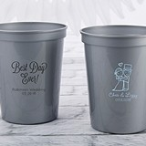 Personalized 16 oz. Stadium Cup with Wedding Designs (4 Colors)