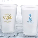 Personalized 12 oz. Frosted Flex Cup with Fun Birthday Designs
