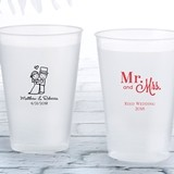 Personalized 12 oz. Frosted Flex Cup (Wedding Designs)